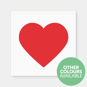 Classic Heart Print - posters & prints