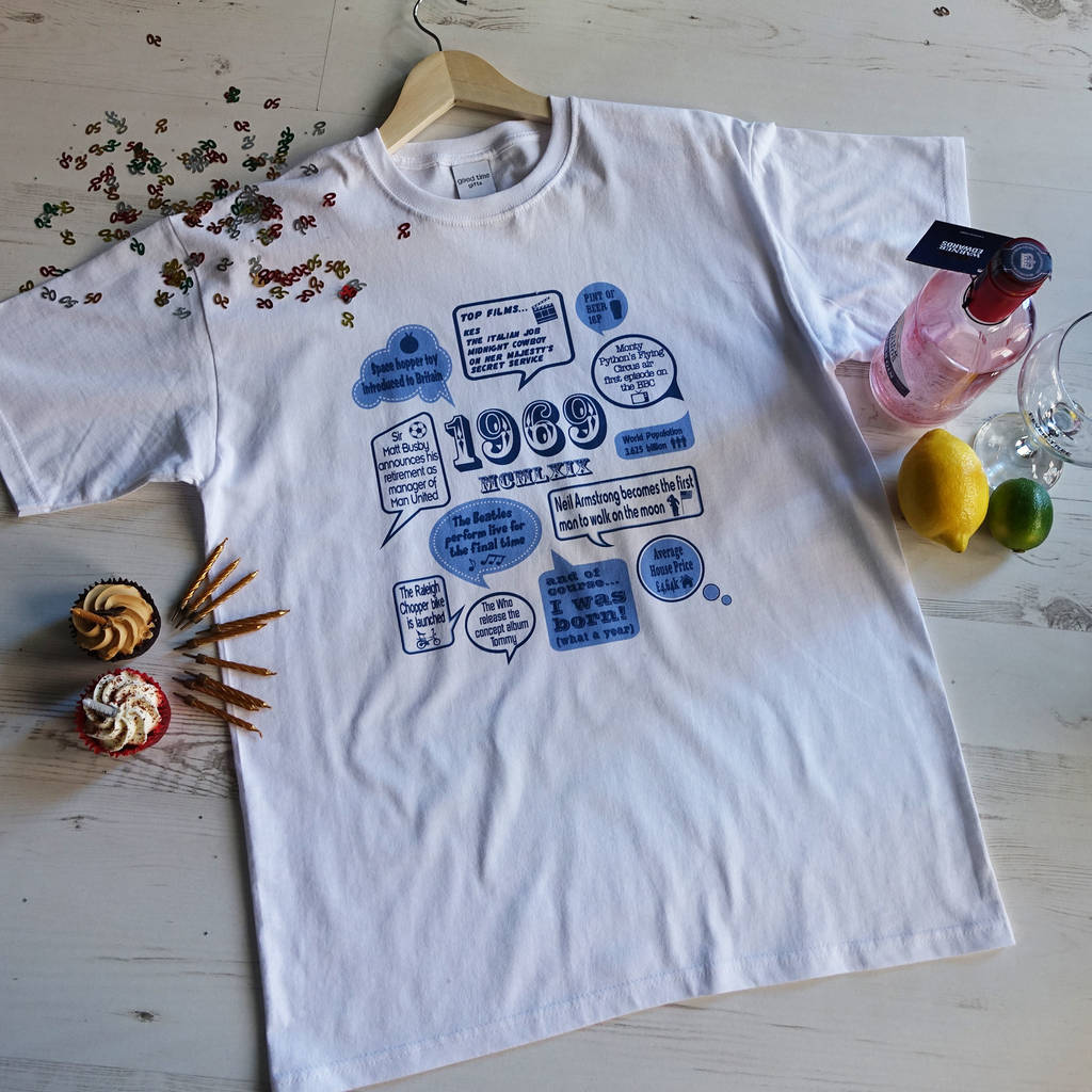 Events Of 1969 50th Birthday Gift T Shirt