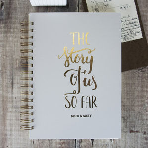 Personalised The Story Of Us So Far Memory Book - 1st anniversary: paper