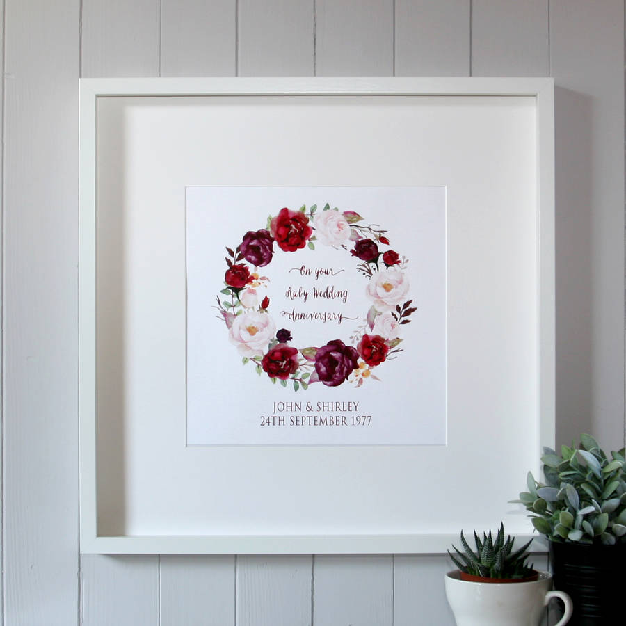 40th Wedding (Ruby) Anniversary Gifts | notonthehighstreet.com