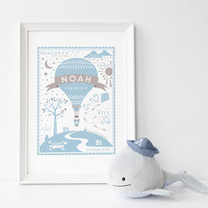 Personalised New Baby Gift: Name And Date Print