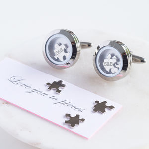 Love You To Pieces Cufflinks - cufflinks