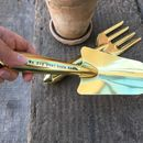 Personalised Gold Garden Trowel And Fork Set