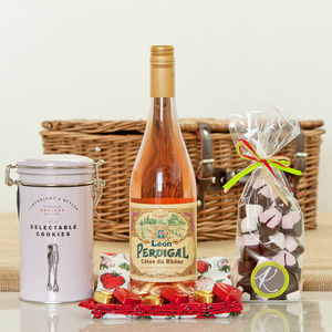 Cotes Du Rhone Rose And Sweet Treat Hamper - wine hampers