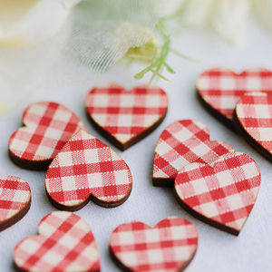 Love Hearts Scatter Decorations Fabric Finish