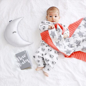 Star Baby Blanket And Cushion Gift Set - new baby gifts