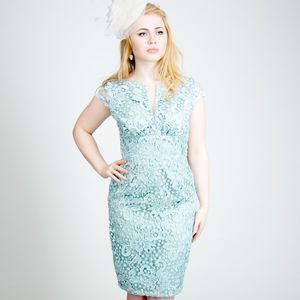 Lace 1950s Wiggle Pencil Dress