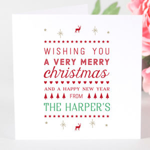 Personalised Family Christmas Card - new in christmas