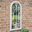 Decorative Arched Garden Mirror