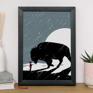 Of Boy And Beast Giclee Print - posters & prints