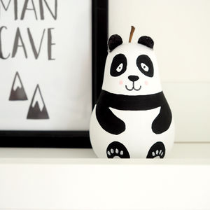 Wooden Panda Pear - decorative accessories