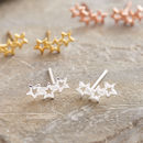 Silver Twinkle Star Earrings Studs