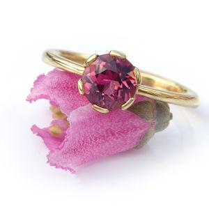 Tourmaline Ring In 18ct Gold Handmade To Size - rings