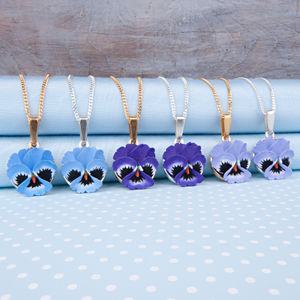 Pansy Pendant Necklace - necklaces & pendants