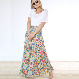 Lisbon Sunshine Bamboo Wrap Skirt - skirts & shorts