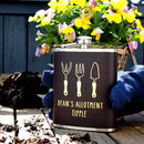 Personalised Allotment Gardening Hip Flask