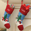 Personalised Embroidered Penguin Christmas Stockings
