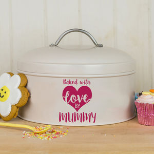 Personalised 'Made With Love' Cake Tin - baking