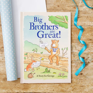 Personalised Big Brothers Are Great Book - interests & hobbies