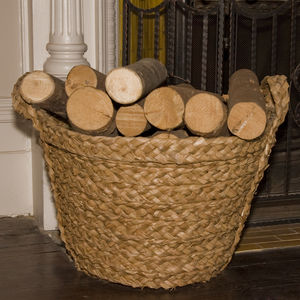 Rush Round Log Basket Tw18