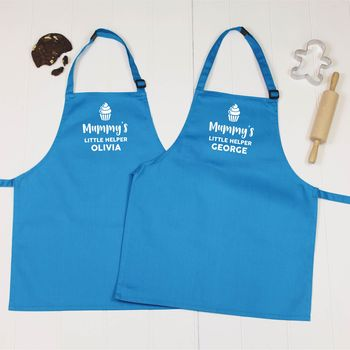 Mummy's Little Helper Personalised Apron Set