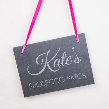 Prosecco Patch Personalised Slate Signs