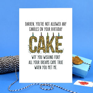 Funny Boyfriend Or Girlfriend Birthday Card