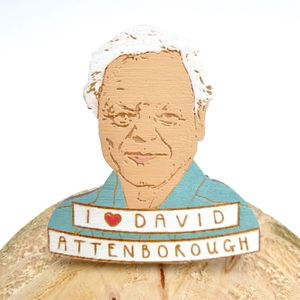 David Attenborough Pin Badge - pins & brooches