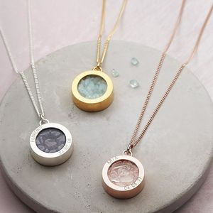 Birthstone Locket Necklace - november birthstone