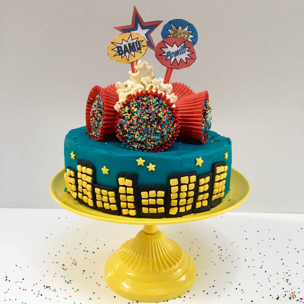 Superhero Birthday Cake Kit By Craft & Crumb