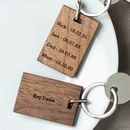 Personalised Key Dates Keyring
