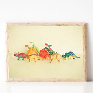 Walking With Dinosaurs Retro Children's Print