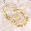 Gold And Silver Tassel Fringe Hoop Earrings