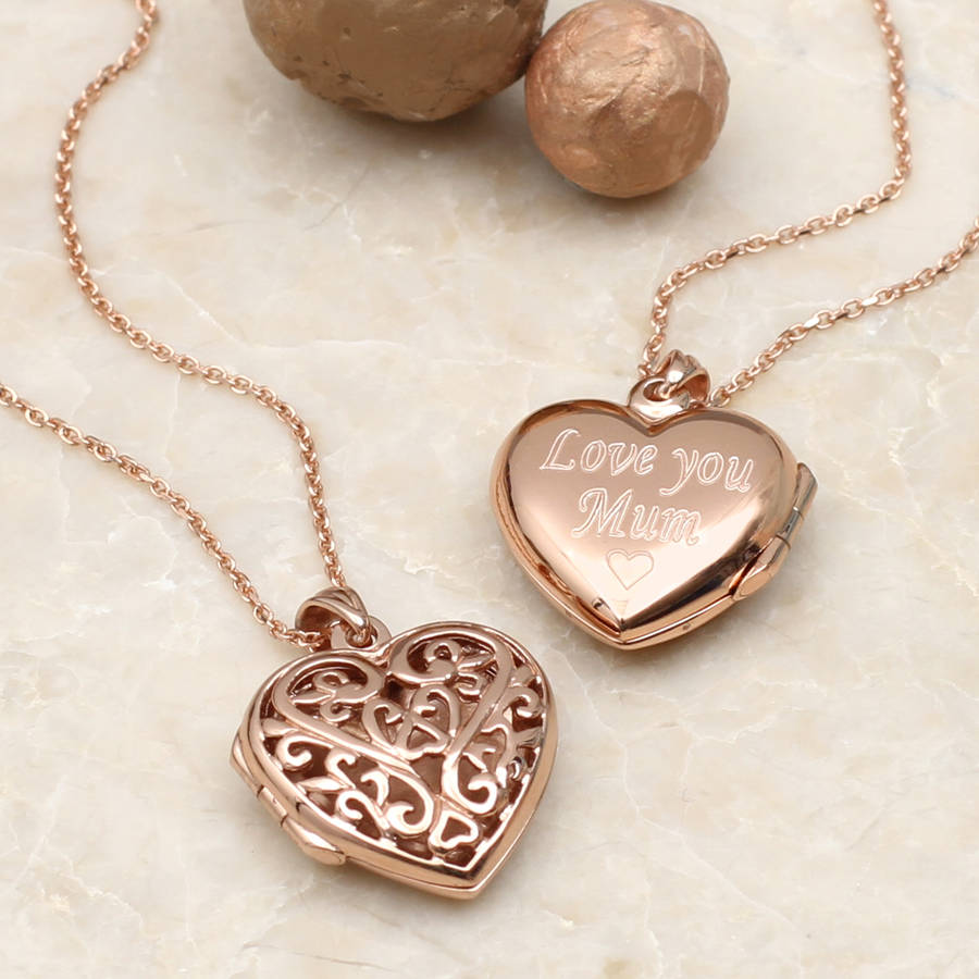 rose in necklace lockets locket gallery product evan metallic lyst heart diamond gold sydney jewelry