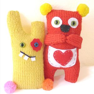 Shy Koala And Cheeky Monster Knitting Craft Kits - knitting kits