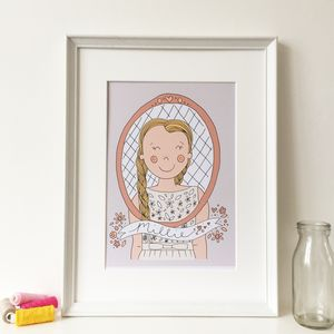 Personalised Illustrated Children's Portrait Print - children's room