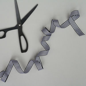 Black And White Striped Ribbon - ribbon & bows