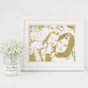 Personalised Foil Photograph Print - gifts from younger children
