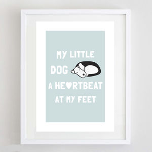 My Little Dog Print