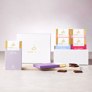 Six Bar Raw Chocolate Gift Box - dairy free easter