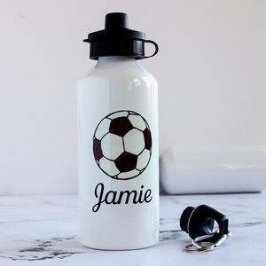 Personalised Football Fan's Water Bottle