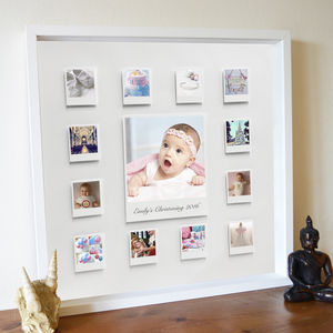 Personalised Christening Celebration 3D Box Frame Print - baby's room