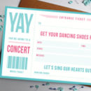 Scratch Off Music Ticket