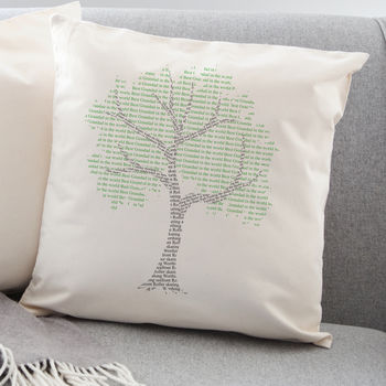 Memory Tree Word Art Cushion