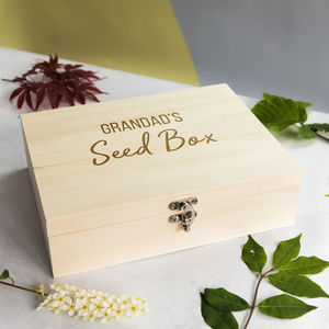 Personalised Seed Box With Six Compartments - boxes, trunks & crates