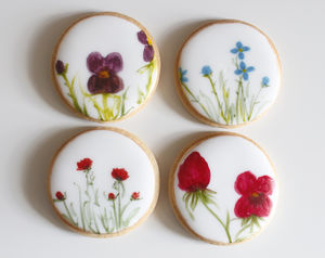 Flower Garden Cookie Anniversary Gift - biscuits and cookies