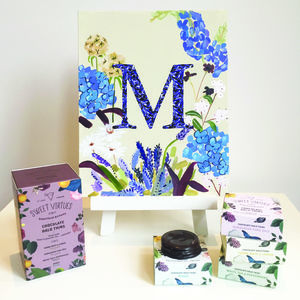 Personalised Wild Flowers Print And Chocolate Gift
