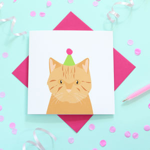 British Shorthair Cat, Birthday Card