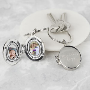 Personalised Photo Locket Keyring - shop by category