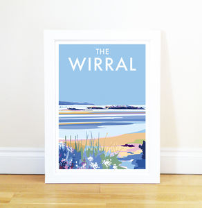 The Wirral Vintage Style Seaside Poster